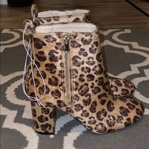 Leopard healed booties!